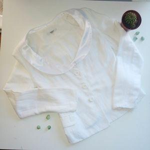 Osafo white blazer